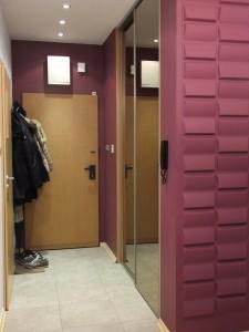 przedpokój - zmiana podłogi, koloru oraz panele 3D